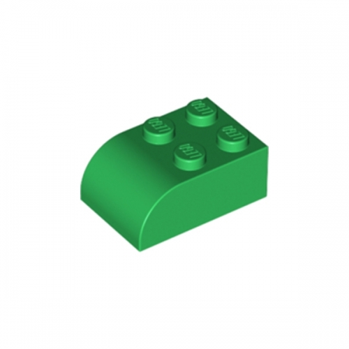 Brick, Modified 2X3 with Curved Top Green