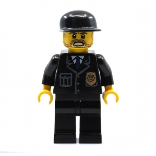Angry Suit Black Police