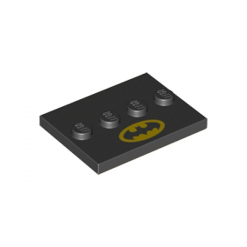 Tile, Modified 3X4 with 4 Studs in Center Batman Movie 2