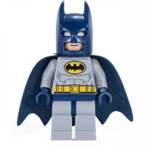Batman - Light Bluish Gray Suit with Yellow Belt and Crest