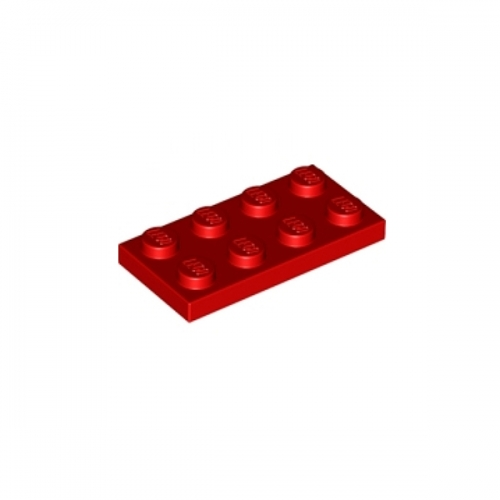 Plate 2X4 Red
