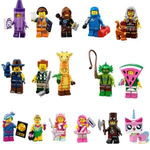 Set 16 Minifigures Serie LEGO Movie 2