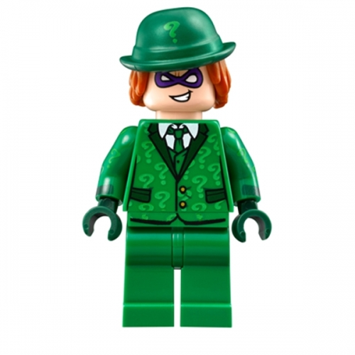 The Riddler - Suit and Tie Hat with Hair